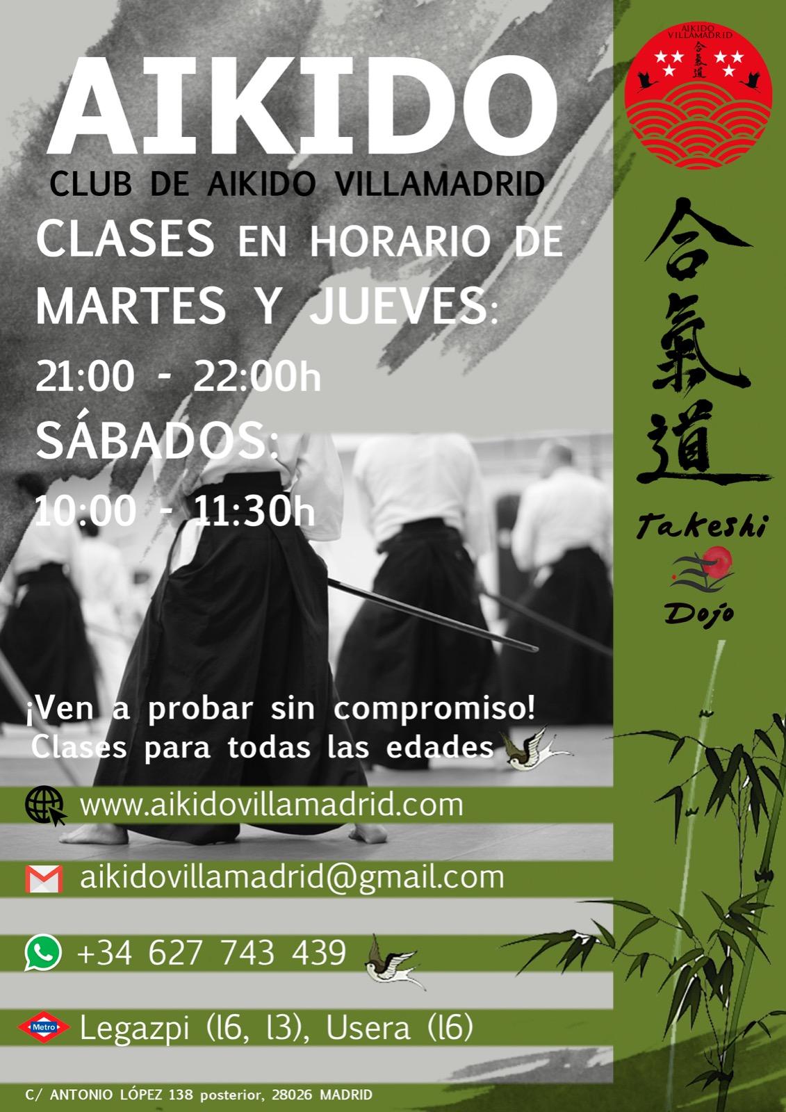 clases de aikido en madrid